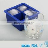 Home Ice Cube Blue Kingdom Extra Large 4.5cm 4 Square Silicone Ice Cube Mold Icecube Tray Mould