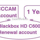 Sell annual renewal subscription icam/zcam account for singapore for Blackbox HD C600 II MINI/C608 Plus/DM800SE/MUX 800SE/900SE