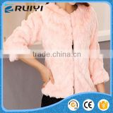 latest design women clothes synthetic fur slim coat
