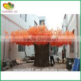 Customized artificial maple tree fiberglass trunk artificial red maple tree fabric leaves fake tree