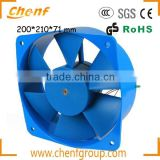 China Manufacture 230V AC Axial Flow Fans 200*210*71mm