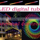 Hot selling,External-controlled 6 pixel/m dance floor digital tube/ decoration rgb digital tube DC24V 10-11w/m ,2 years warranty
