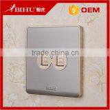 BIHU stainless steel single double rj45 connector female socket price low