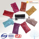 Patent leather wrist wallet with back zipper pocket