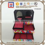 Fashion Plastic Jewelry Box With Drawer Music Box Hand Crank