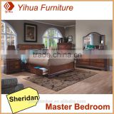 Yihua Sheridan Wooden Queen Bed With Storage Drawer
