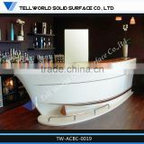 Luxury Hotel Front Reception Counter Boat Shape Bar Counter