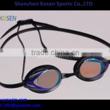 Fashion design swim goggle with degree prescription myopic lens from 150~800 degress with diopter