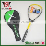 SQ565 YELLOW aluminium&carbon squash racket/squash rackets for sale/squash racquet