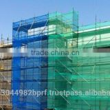 Green HDPE Scaffold Construction Safety Net For Outside Construction Security And Tidy Green HDPE Sc