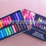 Variety colours artist soft pastel color chalk for hair chalk color in stock