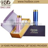 2014 new design luxury paper packaging perfume boxes &silk cosmetics containers with magnetic closure