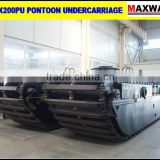 3 Chains Pontoon Undercarriage of Amphibious Excavators with Manholes . CE, ISO, SGS, CCC