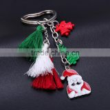 Cheap Red Cute Keychain For Christmas Jewelry Santa Claus Key Chain Christmas Tree Car Keychain