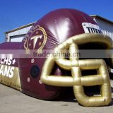 Inflatable football helmet tunnel, inflatable entrance tunnel, baseball inflatable sports tunnel