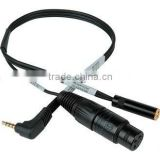 TRRS to XLR Mic 3.5mm Monitoring Jack Cable