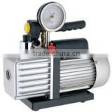 Single-stage rotary vacuum pumps with magnetic valve and press gage