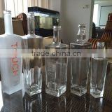 375ml 500ml 750ml glass bottle with cork empty square glass wine whiskey glass bottle free sample
