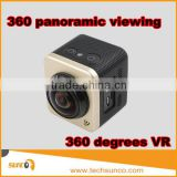2016 new action cam 360 degree waterproof mini cube panorama wifi sport action cam