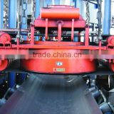 Forced oil cooling self cleaning overband magnetic separator, electro magnetic separator for conveyor belts