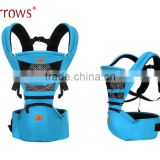 Made in China Export to Europe and America Top Quality Organic Cotton Infants Baby Hipseat Carrier Backpack Sling