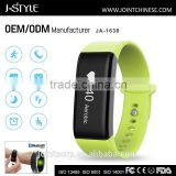 Bluetooth calorie and step counter with alarm clock China game wristband with heart rate monitor