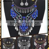 No.1 yiwu & ningbo exporting commission agent wanted fringe style sexy American diamond necklace set jewelery set