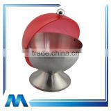 round shape stainless steel condiment server