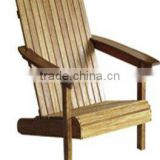Natural Public Garden Wooden Chair