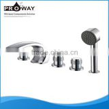 Hardware Of Bathroom 2 Ways Out Tub And Shower Waterfall Faucets With Hand Shower Side Mounted Bath Faucet