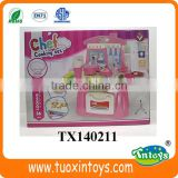 plastic kids play kitchen set chef cooking toys