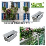 plastic flower pot trays rectangular fiberglass planter box window box planters