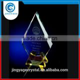 jingyage yiwu crystal crafts yellow crystal plaque award crystal award trophy souvenir gift
