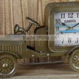 COPPER METAL CAR SHAPE TABLE TOP CLOCK