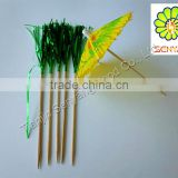 colored decorative bamboo wooden cocktail toothpick flags