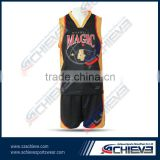 Customize best latest black color basketball jersey design 2014