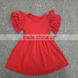 New Simple Style Summer Baby Dress Fashion Red Dress For Party Children's Boutique Gift