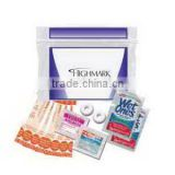 USA Made Tradeshow Kit - has anti-acid packet, antibacterial wipes, pain reliever, bandages and comes with your logo