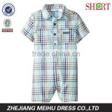 Baby-Boys Infant Plaid Romper Blue Group