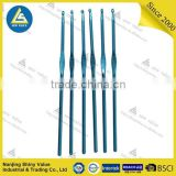 sewing accessories Convenient cheap professional high quality colorful single hand stainless crochet hook