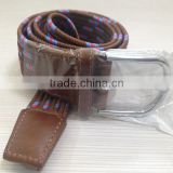 braided elastic canvas stretch belt