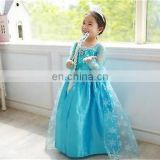 cute wholesale Fashion girls' dress elsa costume elsa dress for kids elsa dress cosplay costume in frozen FC2020