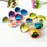 2017 High Quality Heart Shape Children's Glasses Pink Red Sunglasses GirlSun Glasses For Kids Girls 100% Uv400 shade