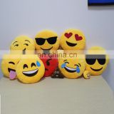Stuffed Emoticon Emoji Pillow Plush Toy Message Round Shape For bedding Filling with Cotton China manufacturer factory wholesale