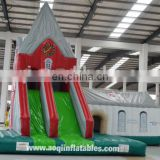 AOQI new design church style inflatable bouncer combo with slide for sale