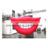 sexy giant inflatable mouth decoration red lips for sale