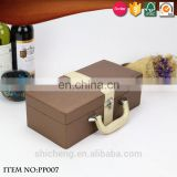 Champagne Glass Bottle Gift Box with Handle