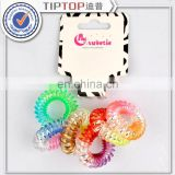 Telephone Wire Line Hair Accessories Ring Gum Colored Elastic Hair Bands Girl Scrunchy Rubber Hair Band