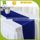 Good quality and cheap ployester satin wedding table runner for banquet decoration