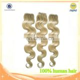 Indian Virgin Hair Extensions Body Wave Light Blonde 613# Hot Selling 100% Human Hair